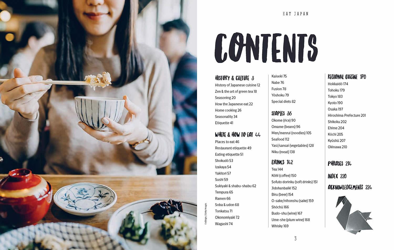 Eat Japan Book Contents