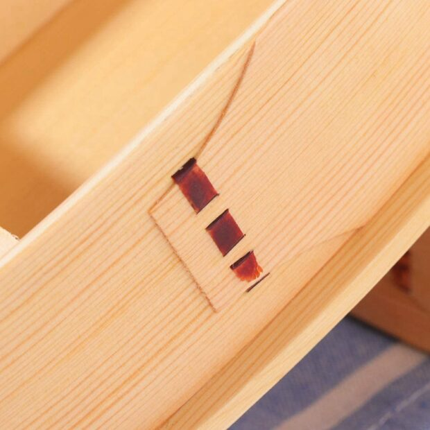 Light 2 Tier Wooden Bento Box