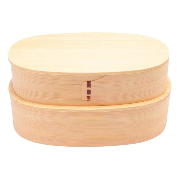 Double-Layer Willow Wood Bento Box