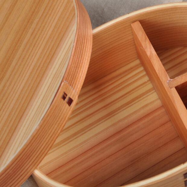 Light Japanese Cedar Bento Box