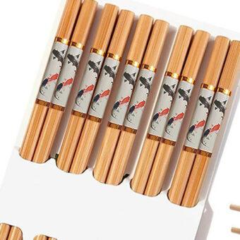 Traditional Bamboo Chopsticks &Amp; Japanese Fish Print