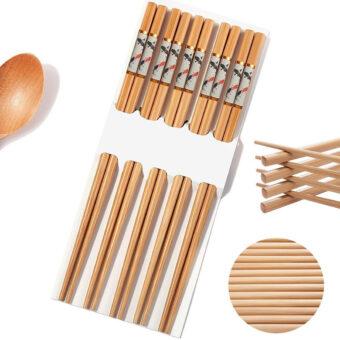 Traditional Bamboo Chopsticks & Japanese Fish Prints