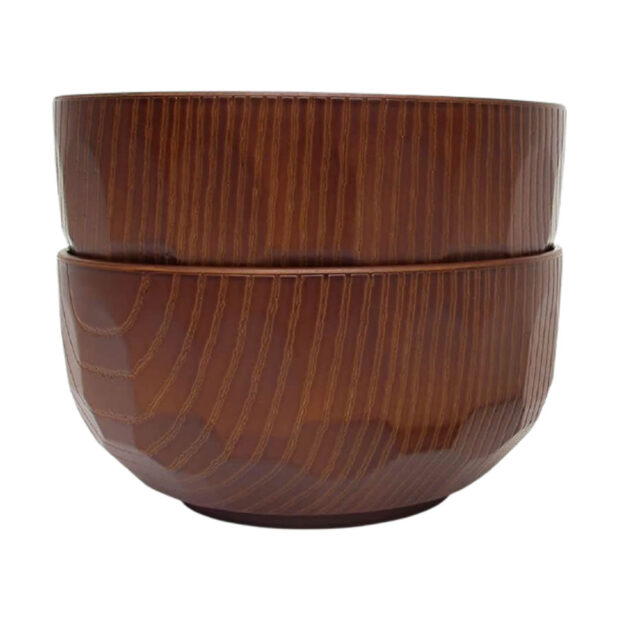 Japanese Wood Grain Bowls