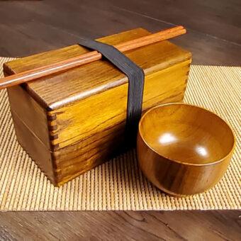 Camphor Wood Bento Set &Amp; Bowl