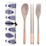 Blue Fish Chopstick & Cutlery Bags