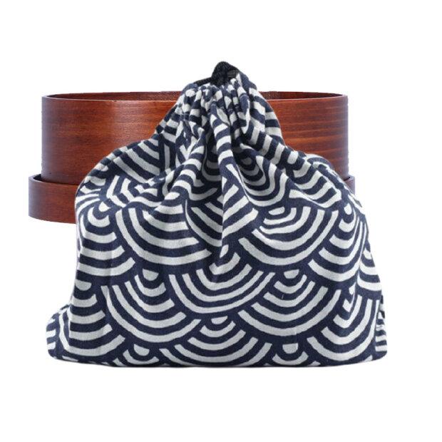 Seigaiha (Blue Ocean Wave) Bento Box Bag