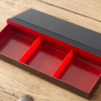 Long 3 Compartment Bento Box &Amp; Lid