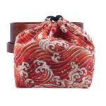 Orange Great Wave Bento Box Bag