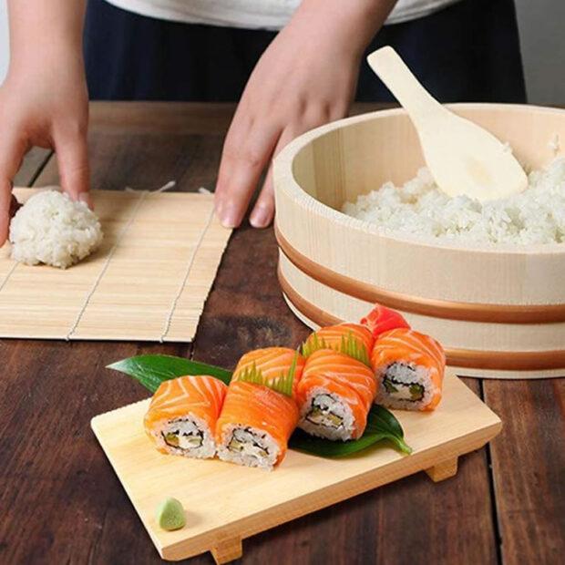 Wooden Sushi Oke Rice Tub
