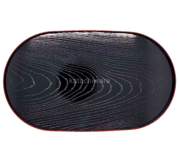 Small Woodgrain Tray Red & Black